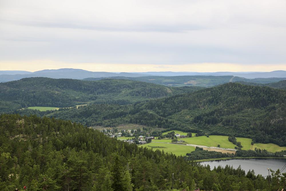 Utsikt från Skuleberget, ut över Höga Kusten