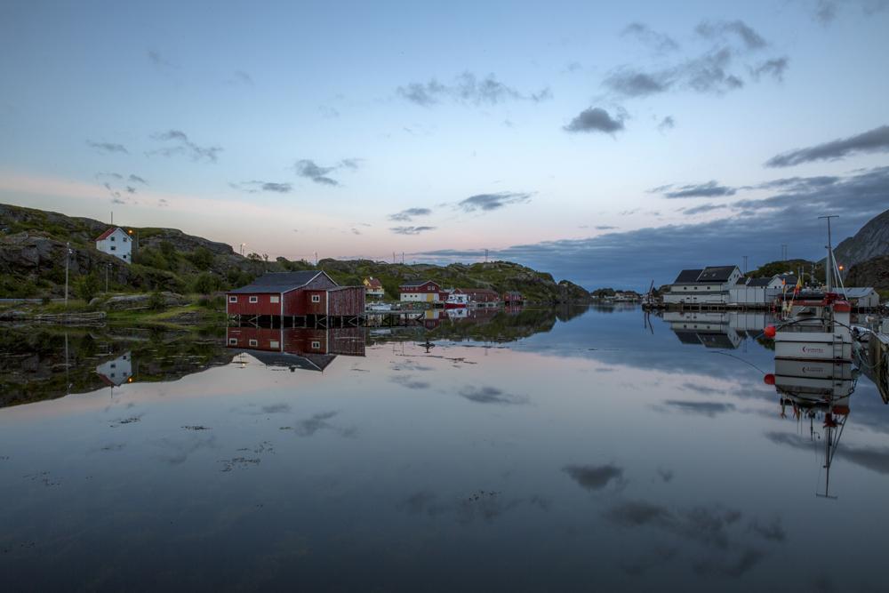 ...och så här ser det ut mitt i natten när tidvattnet har dragit in.