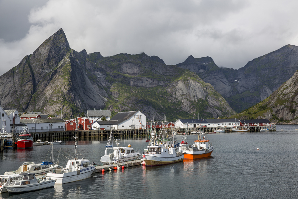 Vackra Svolvaer på Lofoten