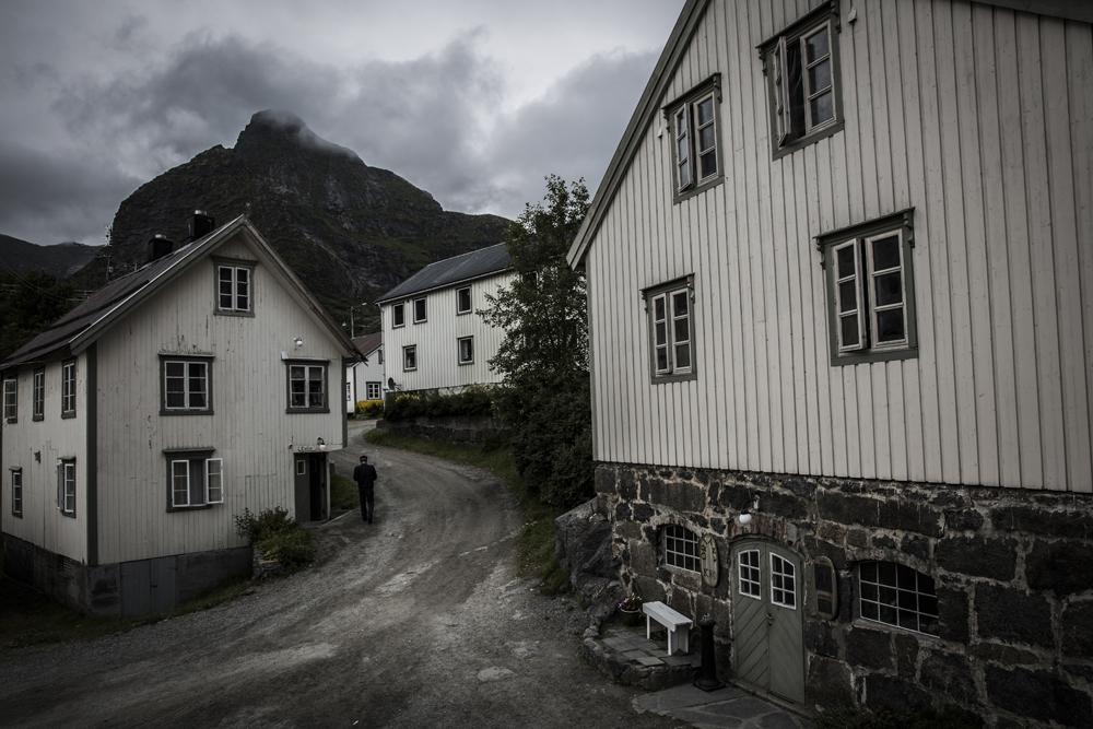 Och här visar Nusfjord sin gråa sida