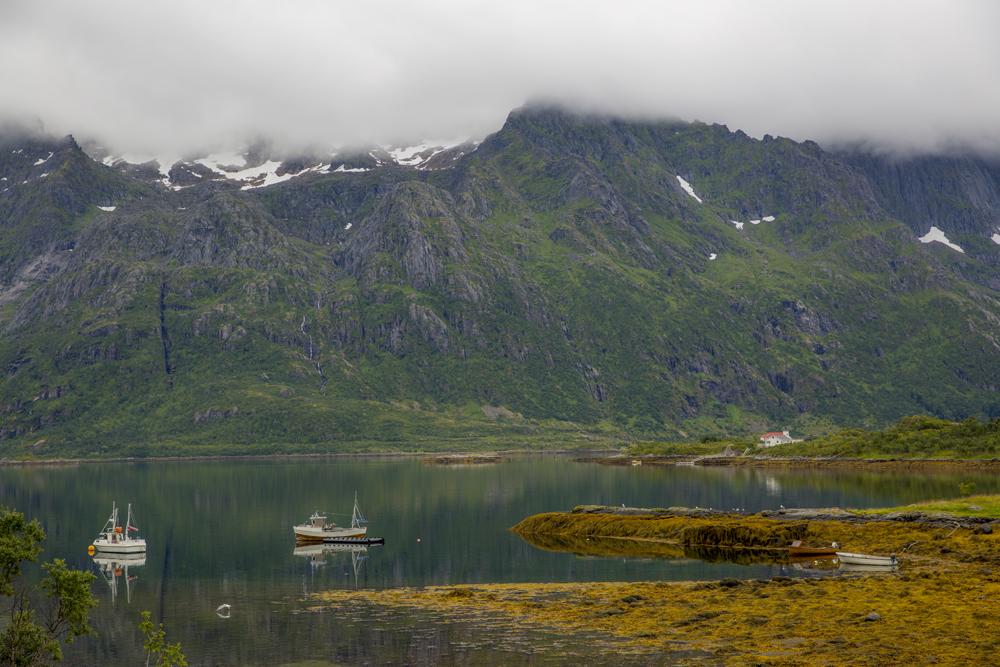 Stilla vatten på Lofoten