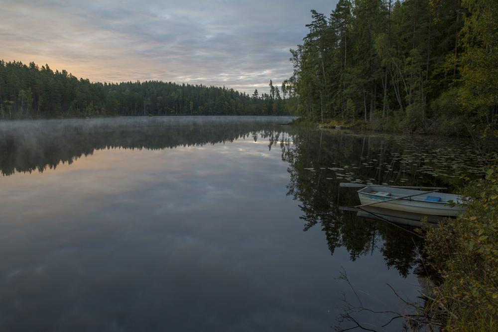 Gryning över Grytsjön i Östergötland