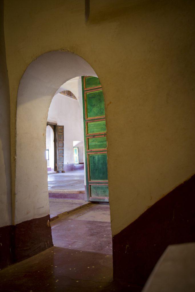 Märkliga Kasbah Taurirt, ett gammalt slott fullt med labyrintliknande gångar