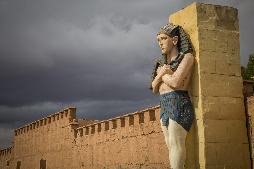 Entrén till Altas Studios i Ouarzazate.