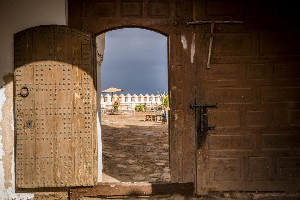 Kasbah Tifoultoute, ett slott där vi var de enda gästerna