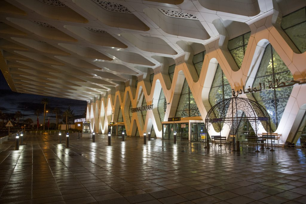 Marrakesh Menara Airport - Häftig design!
