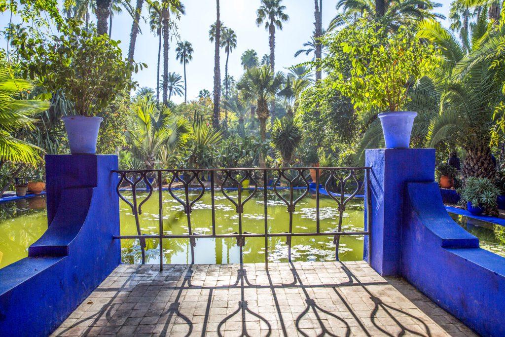 Yves Saint Lourent´s park Jardin Majorelle, väl värt ett besök