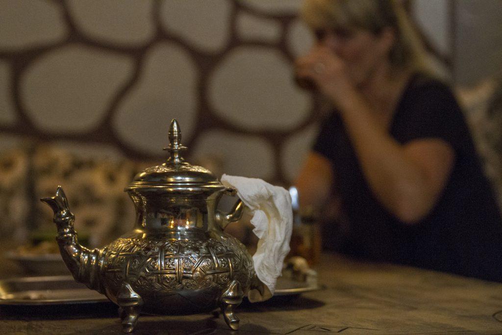 Teaservering vid ankomst till Riaden, en trevlig marockansk sed
