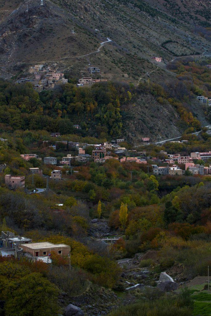 Vy ut över Imlildalen, från vår riad - Kasbah Imlil