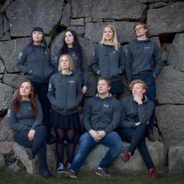 Gruppfoto på Linköpings Universitet