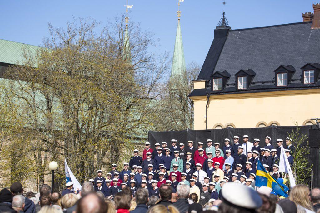 Valborgsgmässoafton på Borggården i Linöping