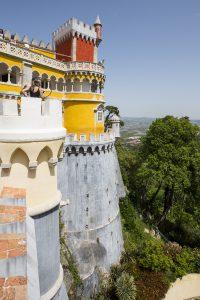 Utsikten är fantastisk var man än befinner sig på slottsområdet