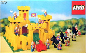 Förpackningen på mitt legoslott i början av 80-talet
