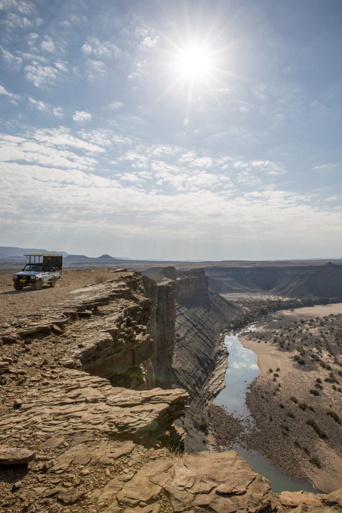 Halvvägs nere i Fish River Canyon.