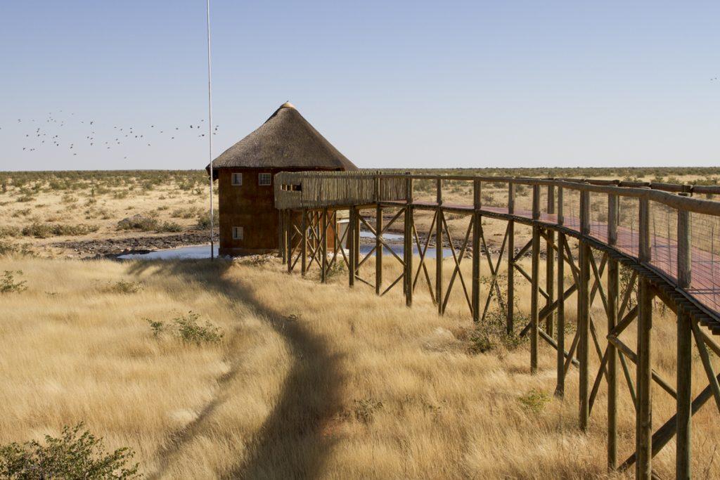 Vattenhålet vid Olifantsrus Camp. Här hade vi gärna bott men det var fullbokat