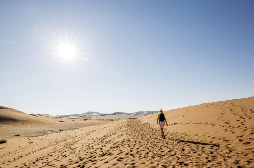 För att vara en av Namibias största turistställen är det ganska tomt på folk