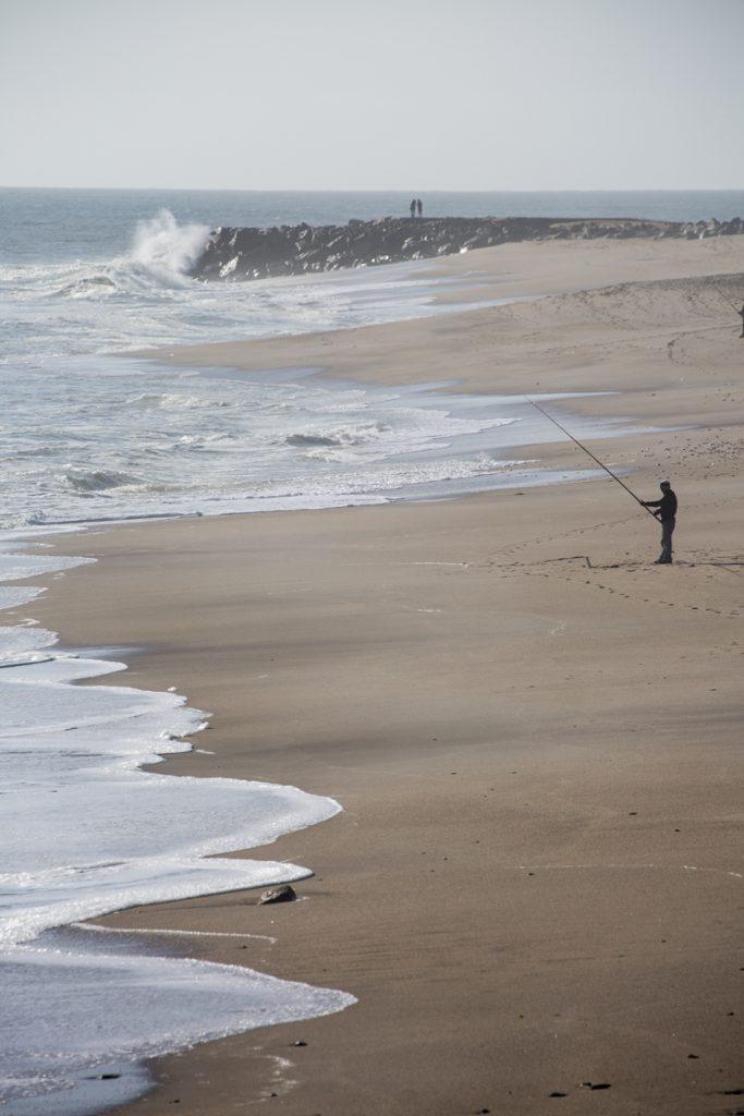 Visst nappar det! En ensam fiskare på Palm Beach