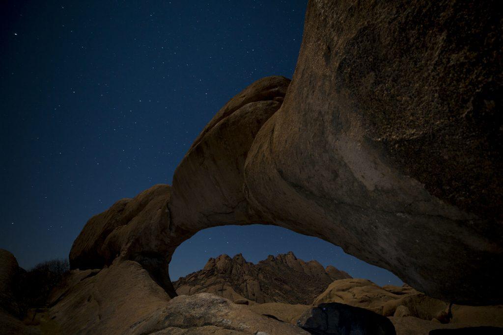En av många nätter med fantastiska stjärnhimlar i Namibia