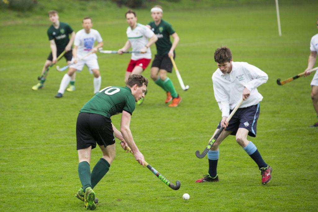 Vi hamnade mitt i en landhockeymatch när vi besökte Trinity College