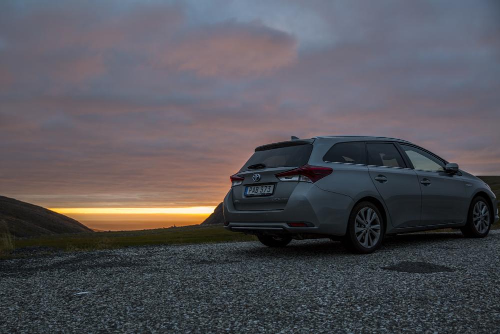 Vår Toyota tog oss hela vägen till Nordkap