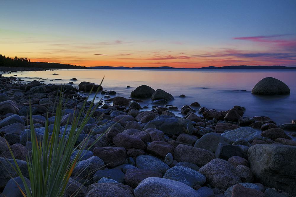 En underbar kväll vid Norrfällsviken på Höga Kusten