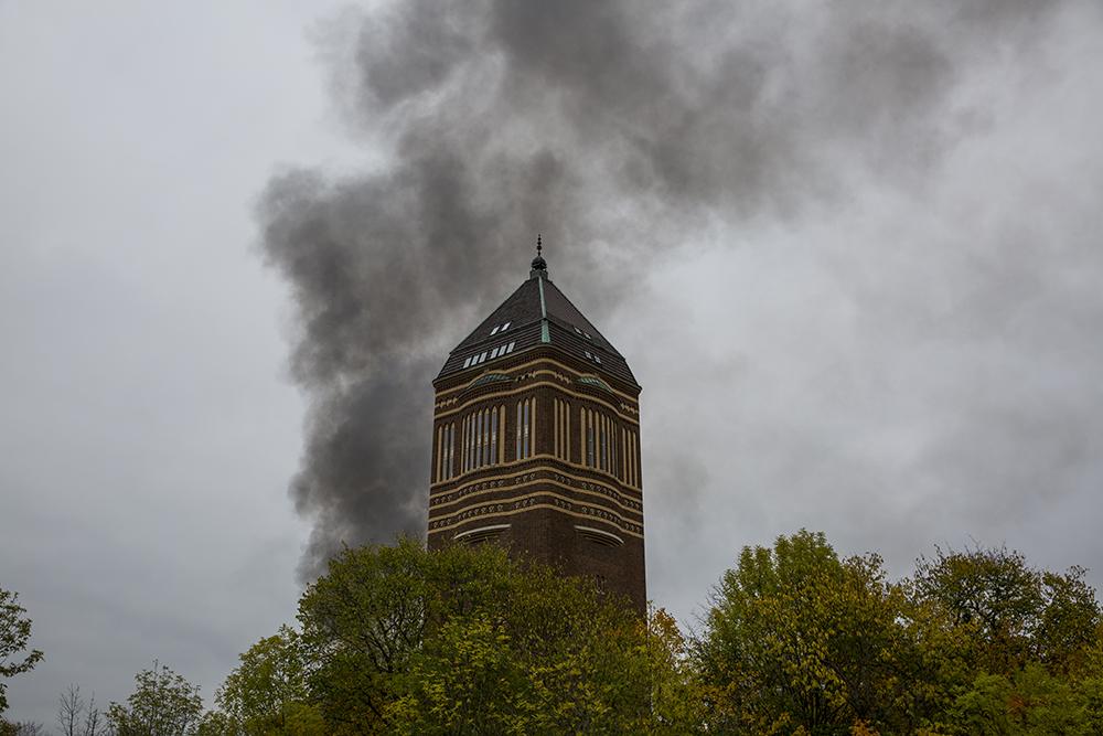 """Det började med att jag fick ett telefonsamtal """"Var är det det brinner?"""". Jag tittar ut och ser rök från andra sidan vattentornet"""