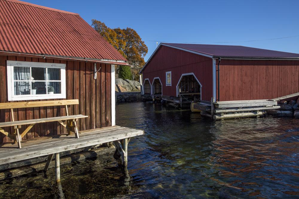 Fiskesamhället på ön. Mycket charmigt!