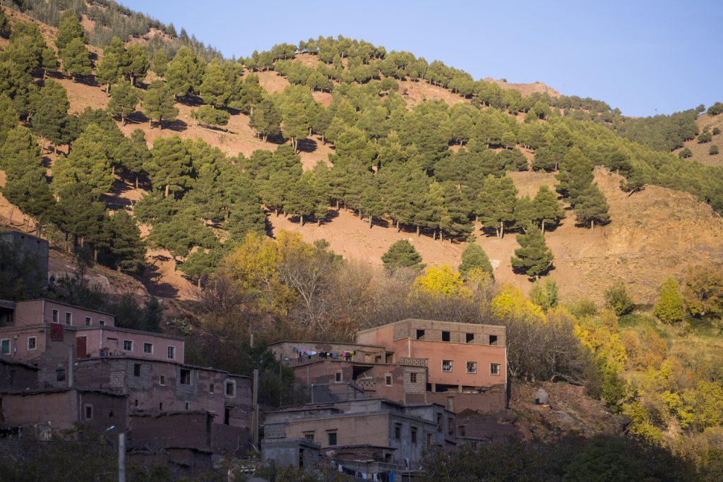 Hus i vår by i Imlil. Byn fick elektricitet i slutet av 1990-talet.