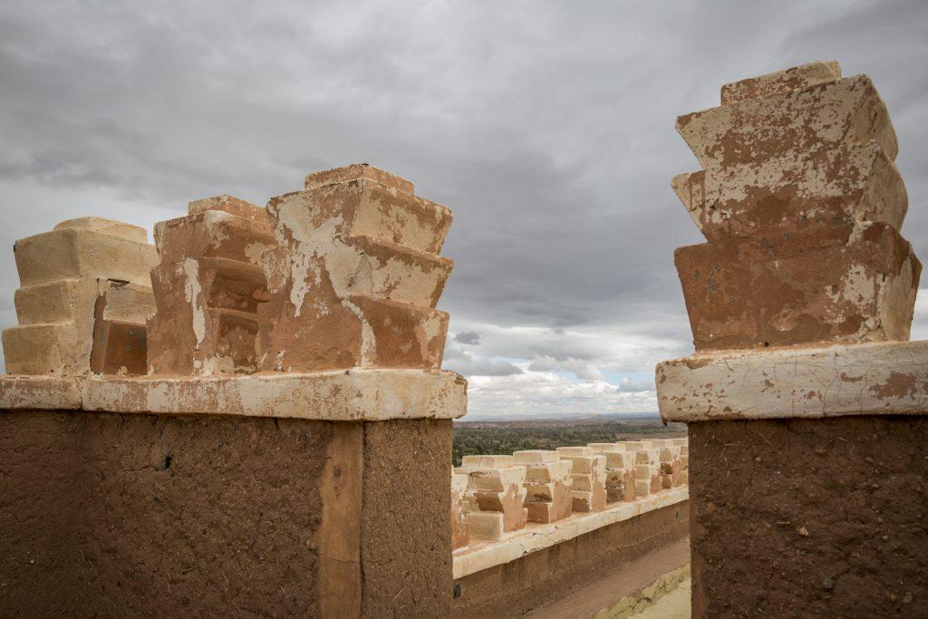 Kasbah, ett slags försvarsanläggning som oftast var byggd av lera och halm.