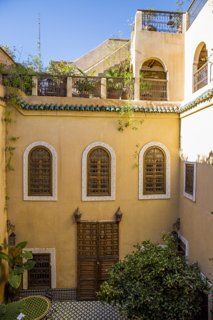 Riad Khol med innergården och takterassen