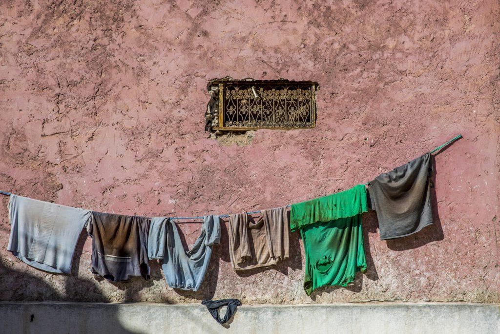 Garveriet var inte renast i Marrakech, inte dessa kläder heller