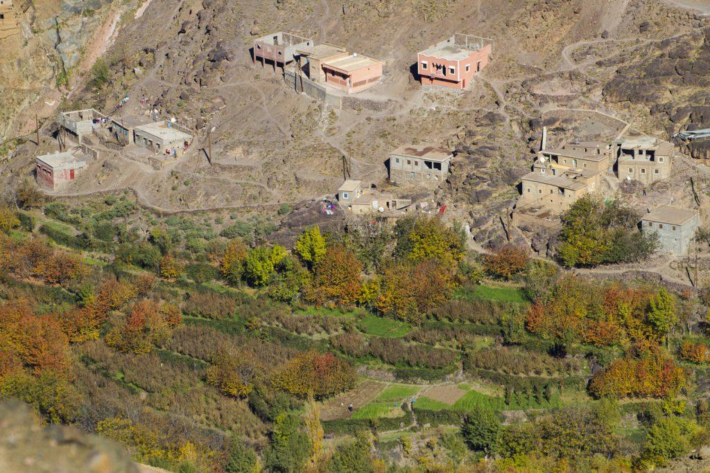 En av byarna i Imlildalen