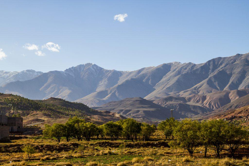 Frodigt i dalgångarna, här på östra sidan om Atlasbergen