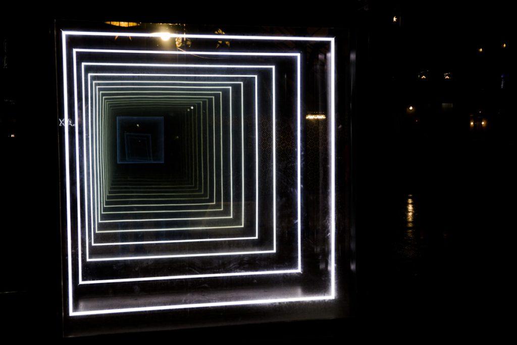 Norrköping light festival - Denna installation heter Bridge