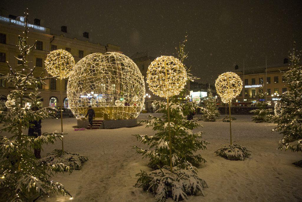 Stora Torget i Linköping, första december