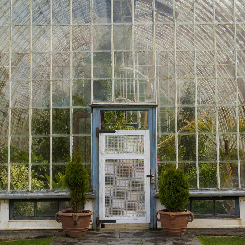 Växthus vid Muckross House väldiga park