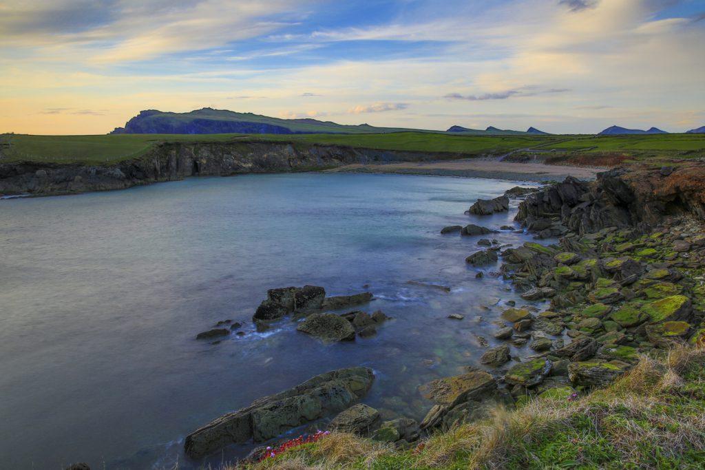 Enastående vackra landskap. Vid Slea Head på Dinglehalvön
