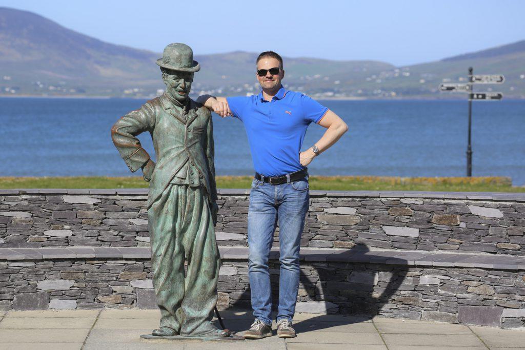 Jag och Charlie Chaplin i Waterville