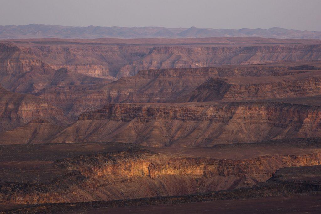 Vy från lodgen. Fish River Canyon - 160 km lång, 27 km bred