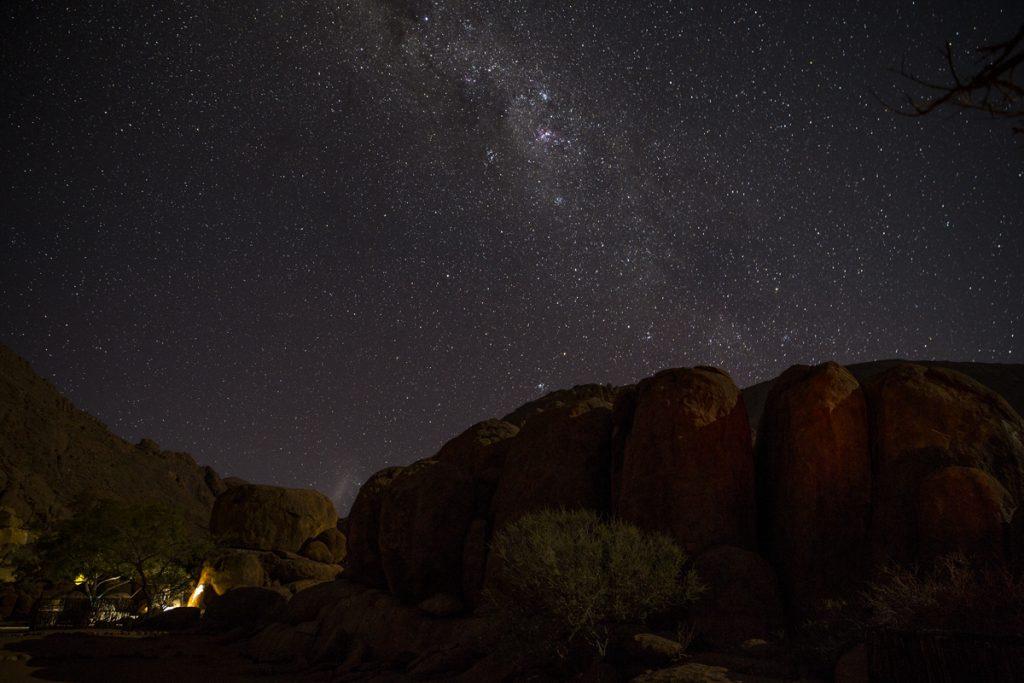 Nattfotografering vid vår campingplats.