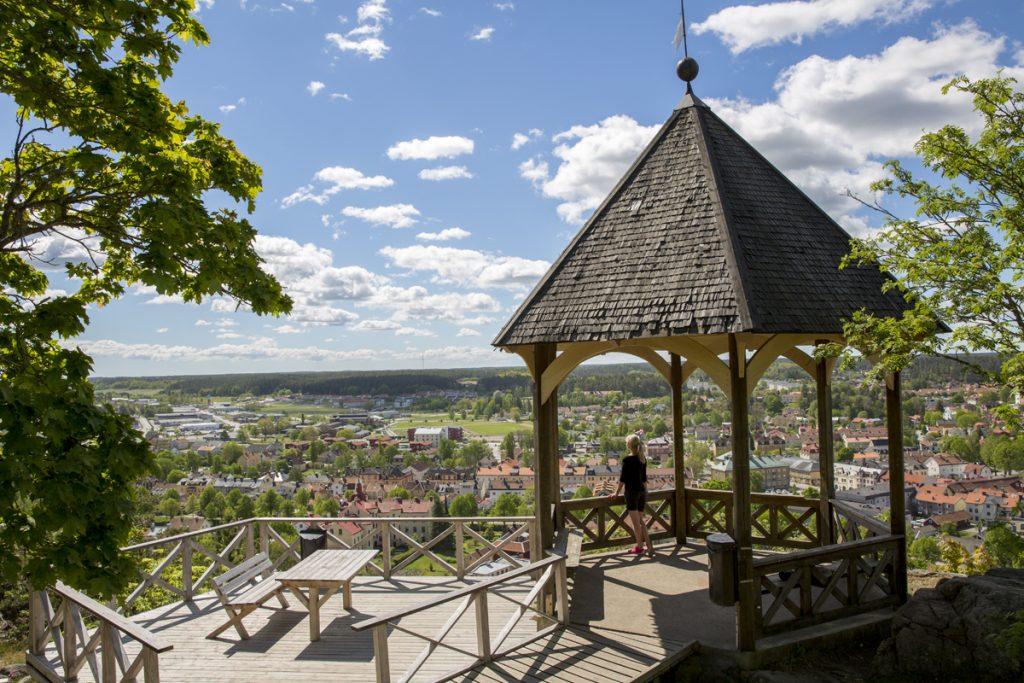 På Ramunderberget med utsikt över Söderköping