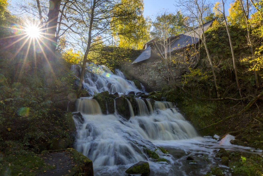 Vattenfall i Småland i Röttle by