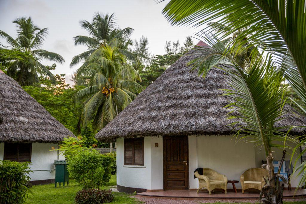 Vår bungalow närs stranden Anse Volbert