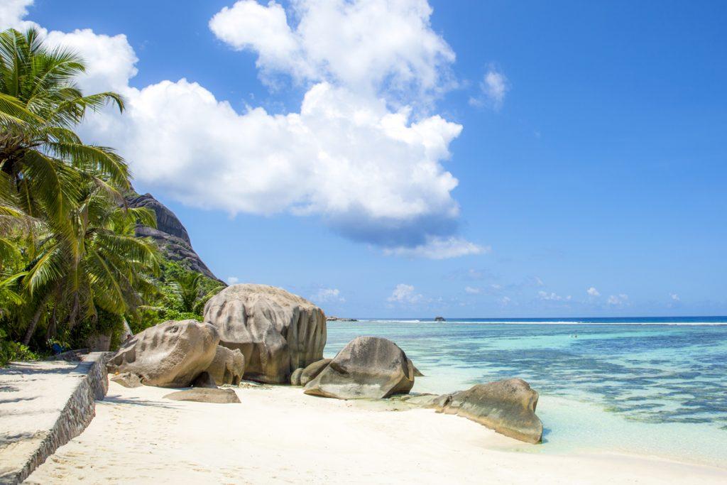 Den smått magiska stranden Anse Source D'argent på La Digue