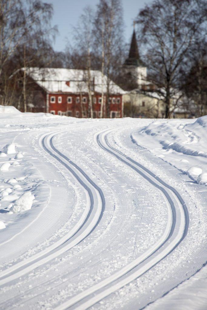 En underbar vinterdag veckan innan Vasaloppet