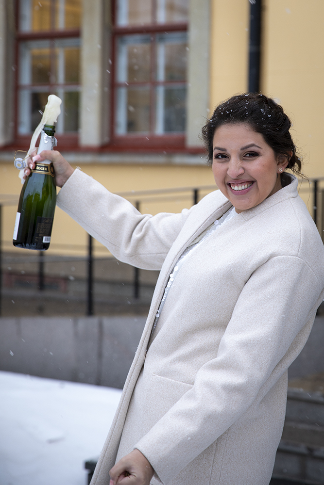 Brlööpsfotografering champagne