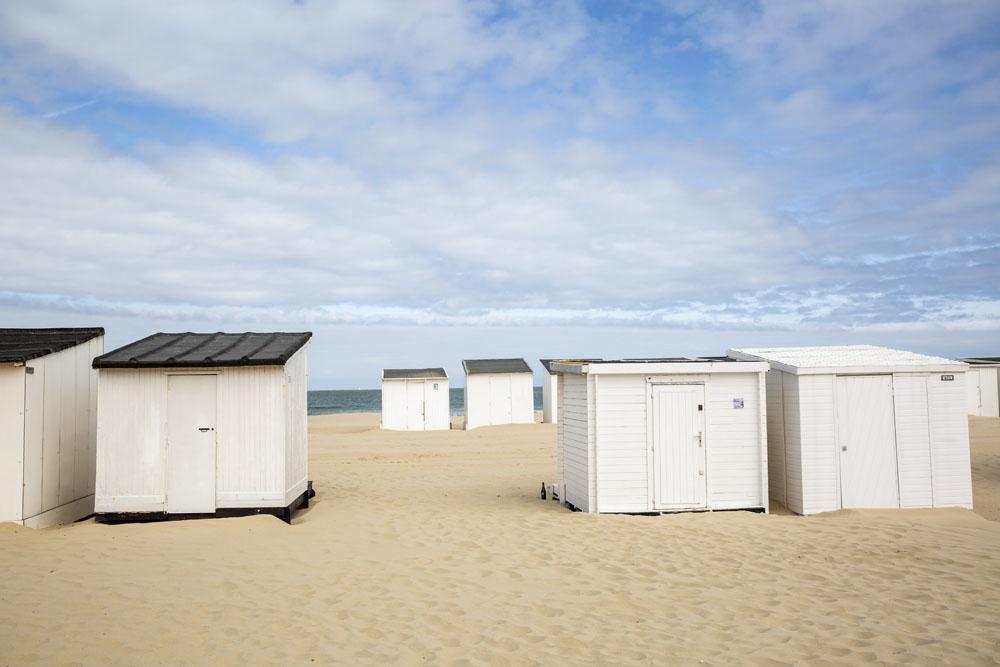 Strandhytter vid Calais