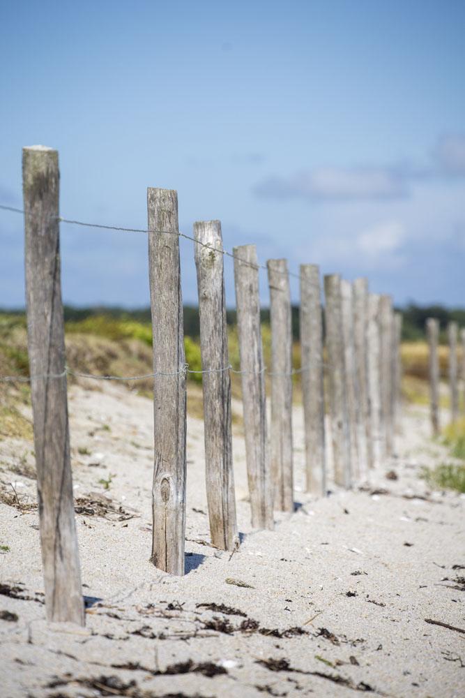 Staket vid strand