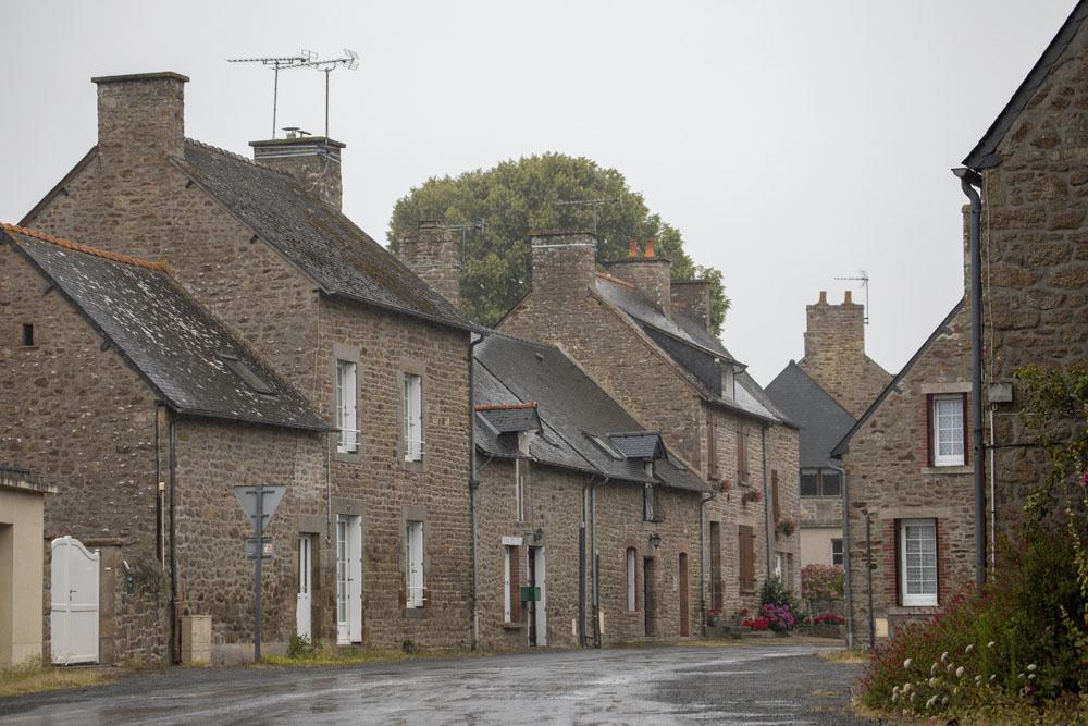 En fransk by med stenhus