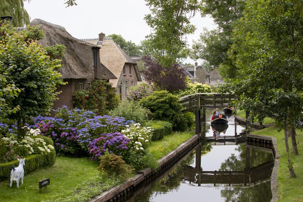 Giethoorn i Holland